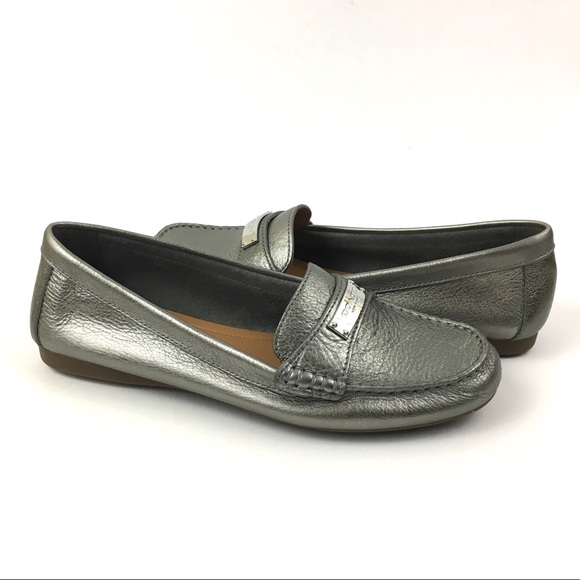 e8d6d39019e Coach Fredrica Loafer Flats In Pewter